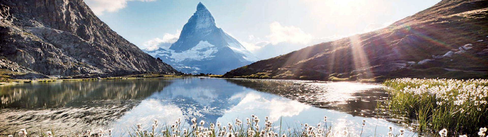 Lake and Mountain in Switzerland
