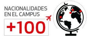 Más de 100 nacionalidades en el campus